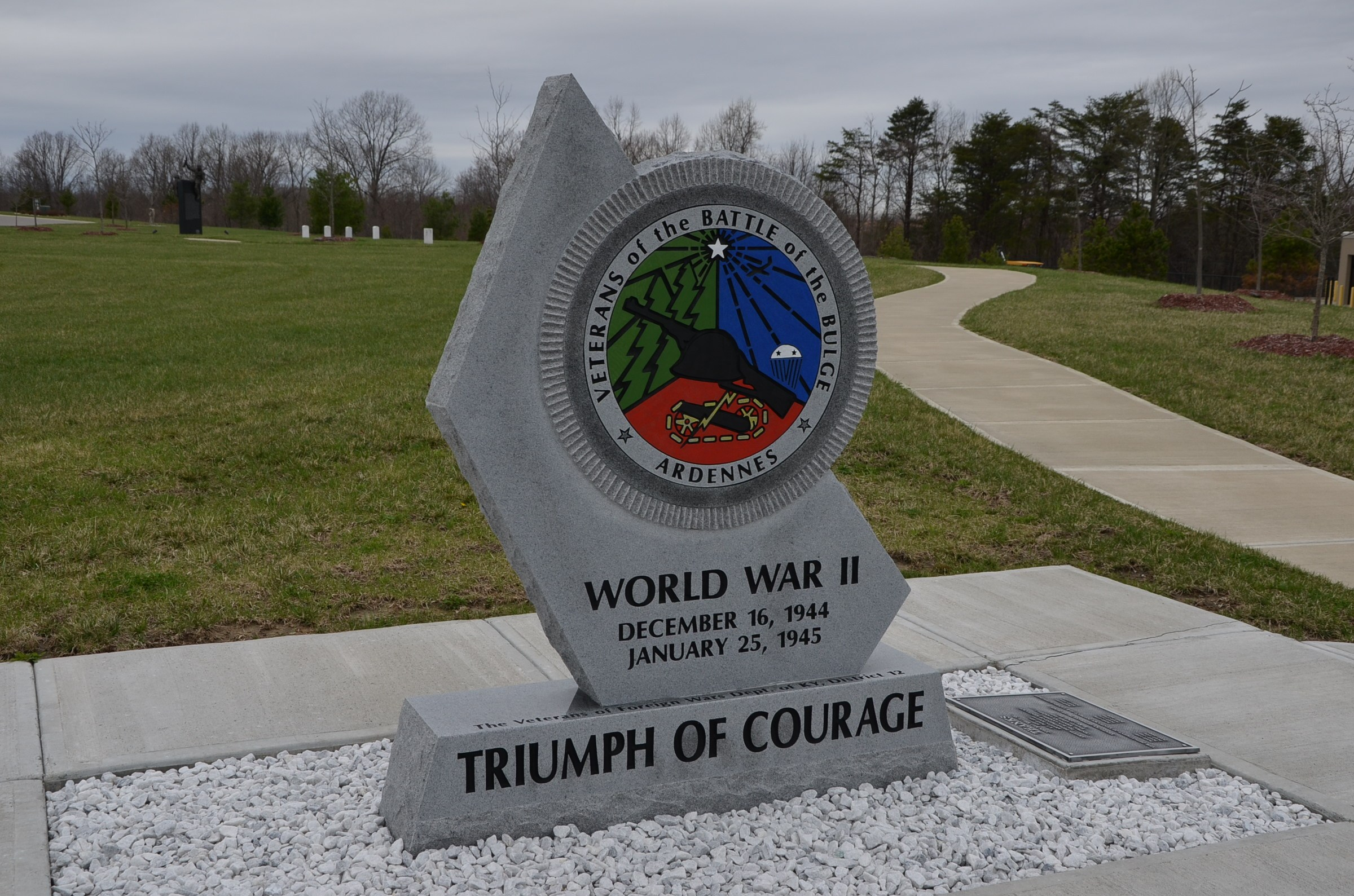 The Battle of the Bulge monument
