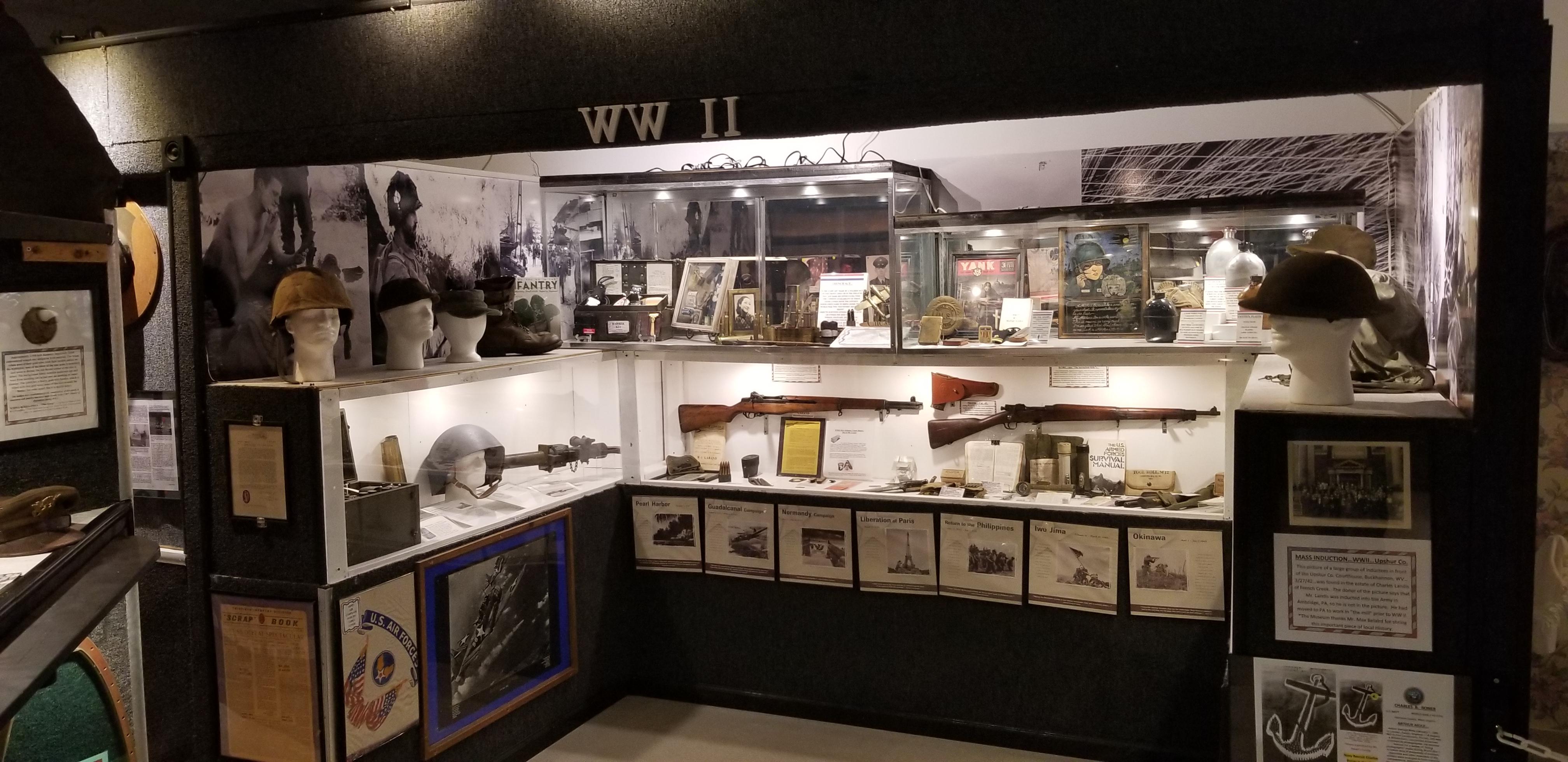 World War II weapon display