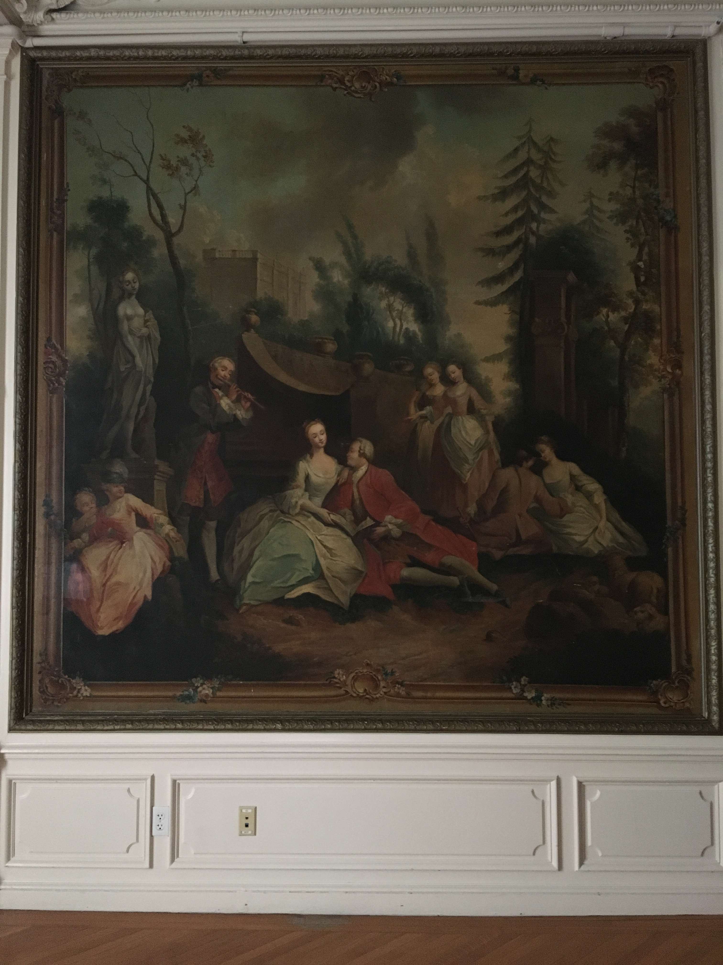 These are one of the many oil paintings that adorn the walls and ceilings of Fairlawn.
