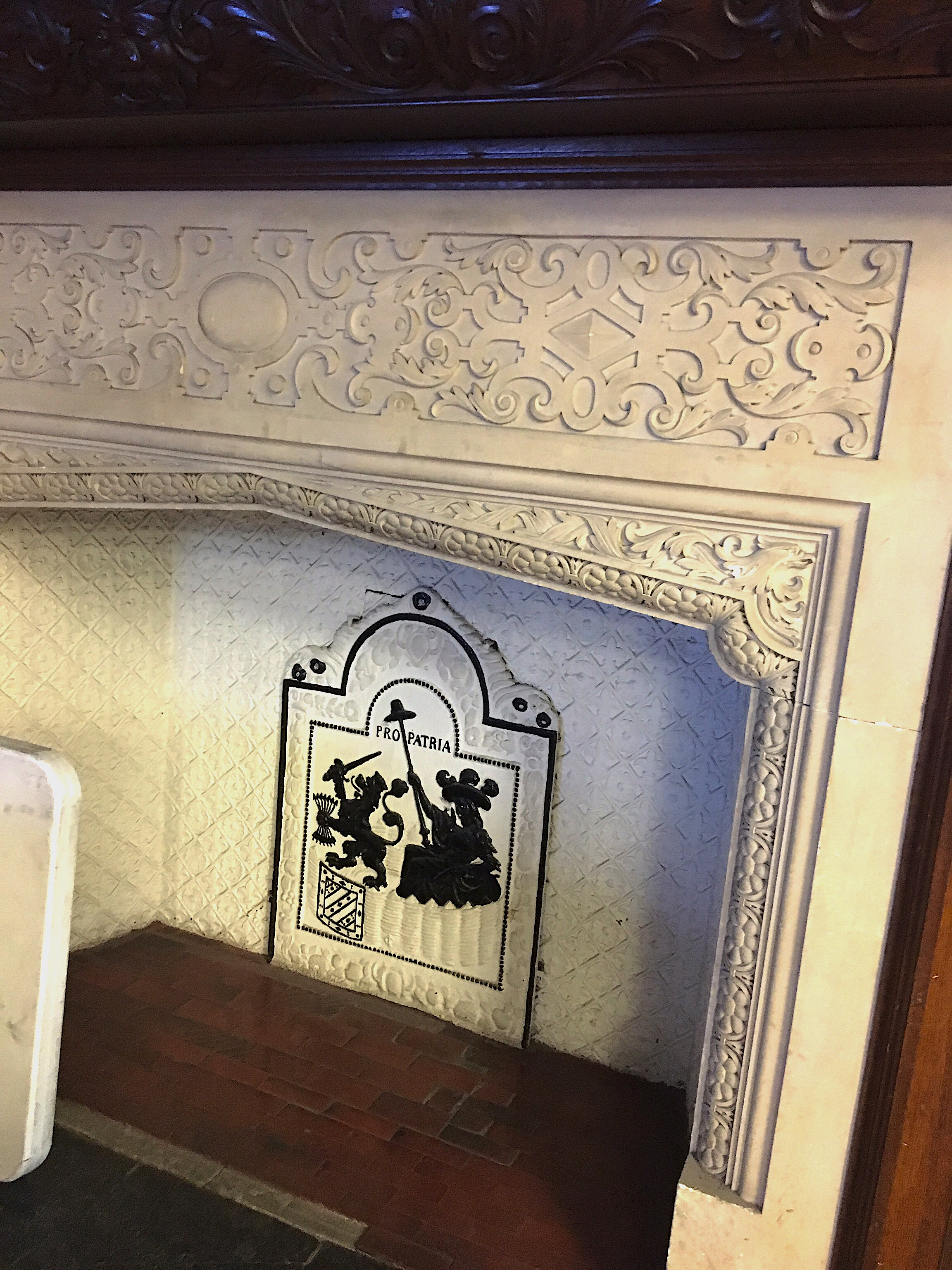 Replica fireplace inspired by Wakhurst Place