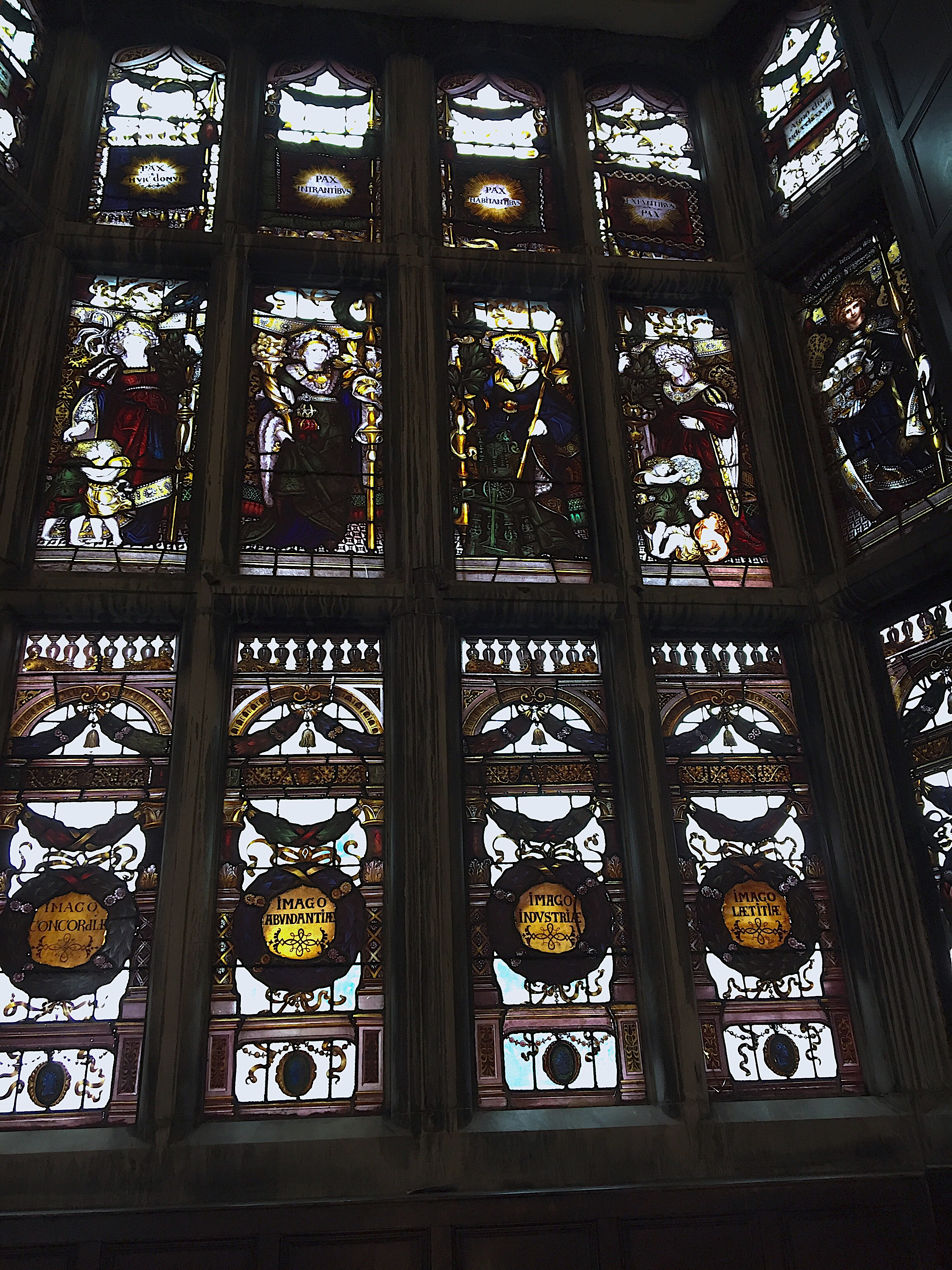 Stained glass windows designed by Charles Kempe