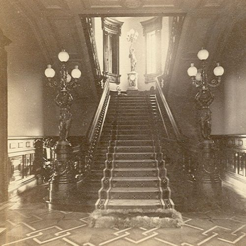 A historic photo of the Grand Staircase