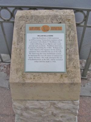 The marker is part of the St. Anthony Falls Heritage Trail series.