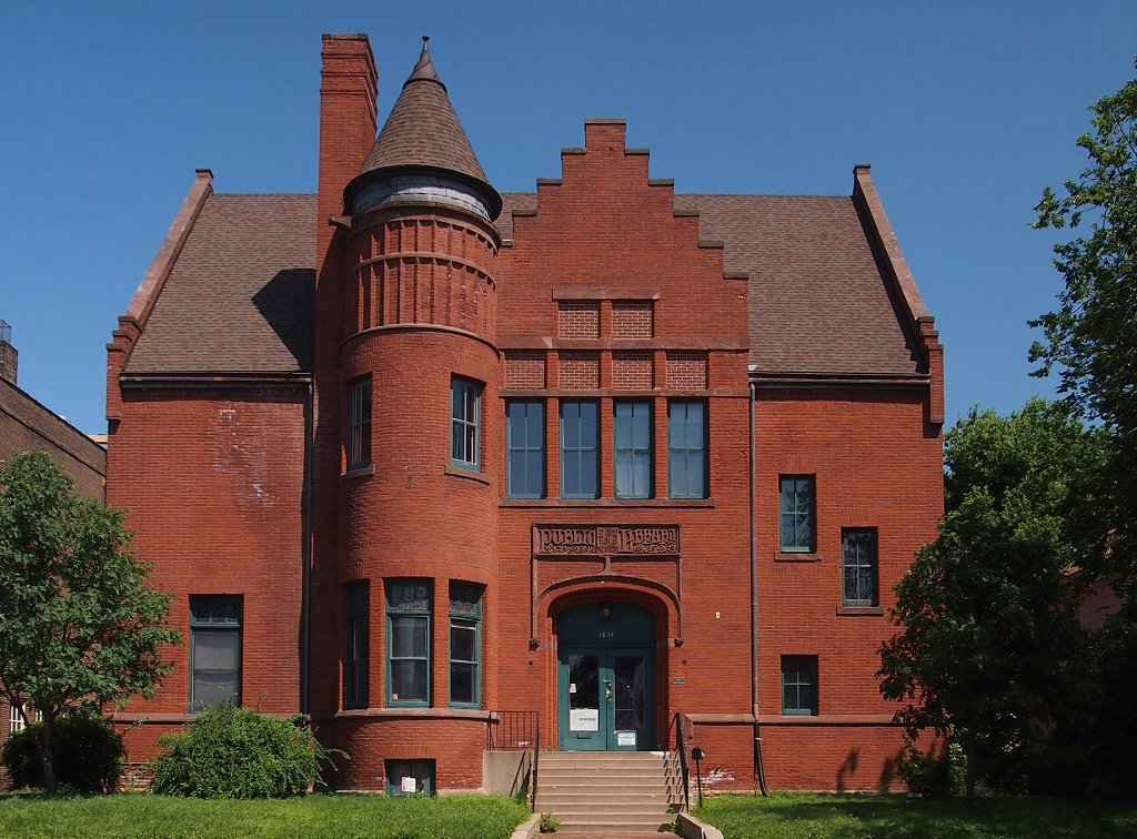 The former North Branch Library, now the  EMERGE Career and Technology Center, was built in 1894.