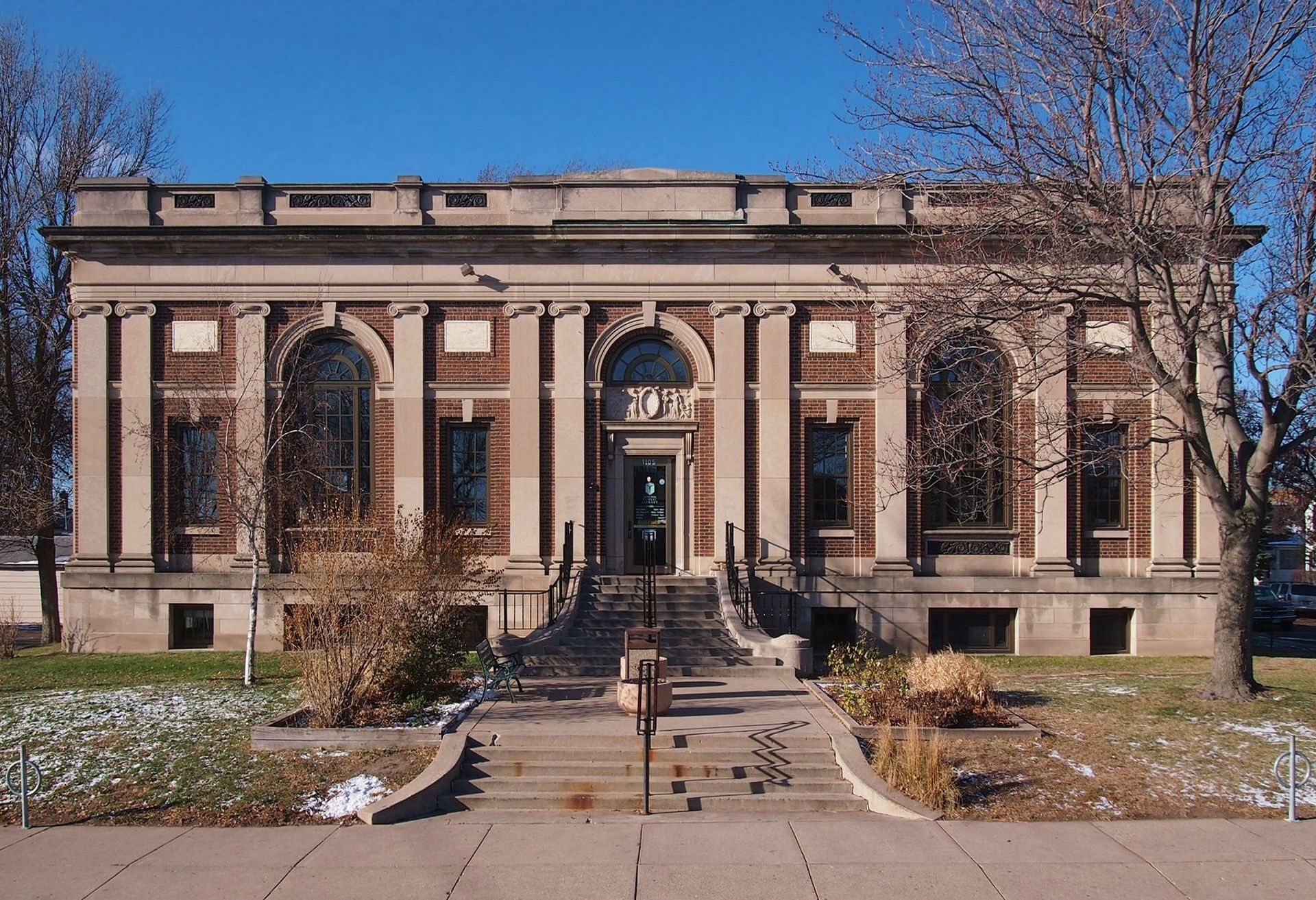 The former Arlington Hills Library, now the East Side Freedom Library, was built in 1917.