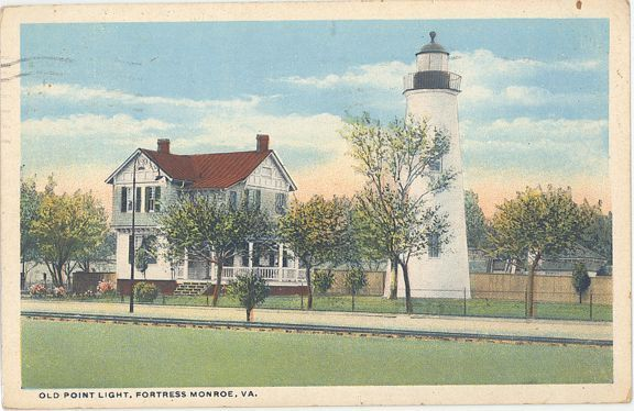 Old Point Comfort Lighthouse postcard ca. 1920