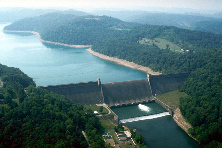 Current photograph of Tygart Lake and Dam