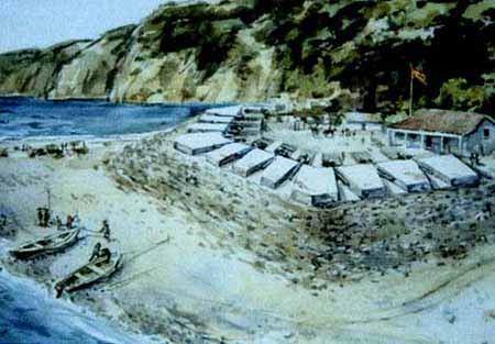 Artist's rendition of the fort upon completion