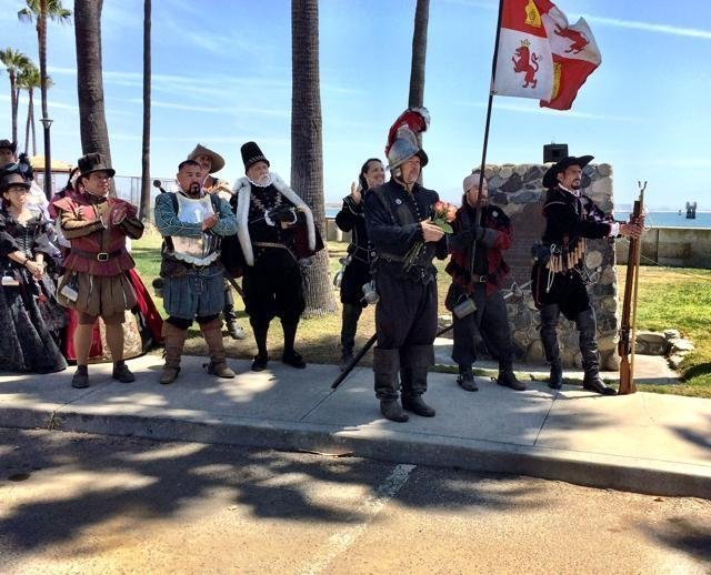 Members of the Royal Spanish Court, a Los Angeles group that re-enacts the Spanish history of California, attends the 212th anniversary of the Battle of San Diego Bay in 2015. Courtesy of the San Diego Union Tribune.