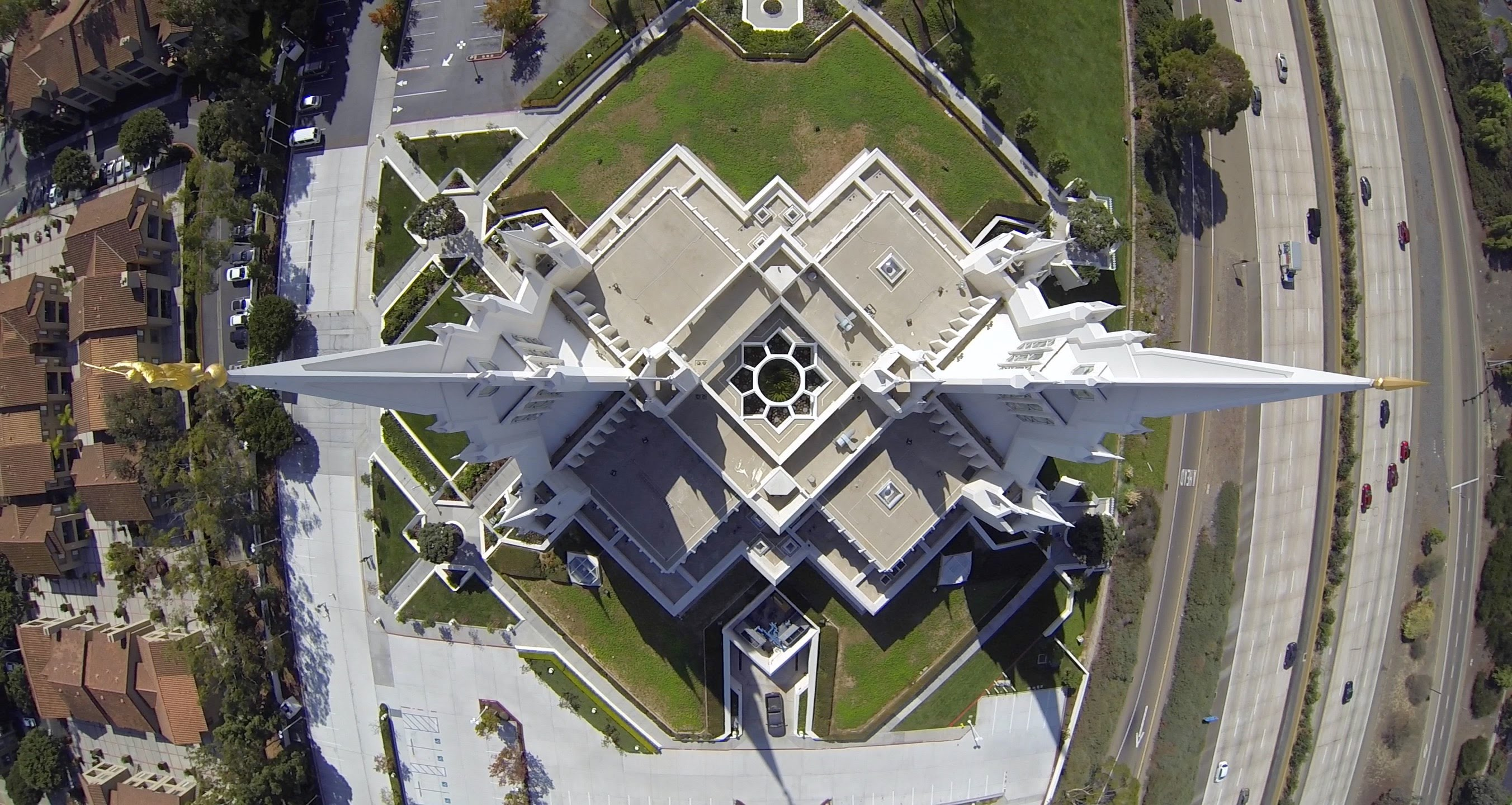 Aerial view of the top of the temple