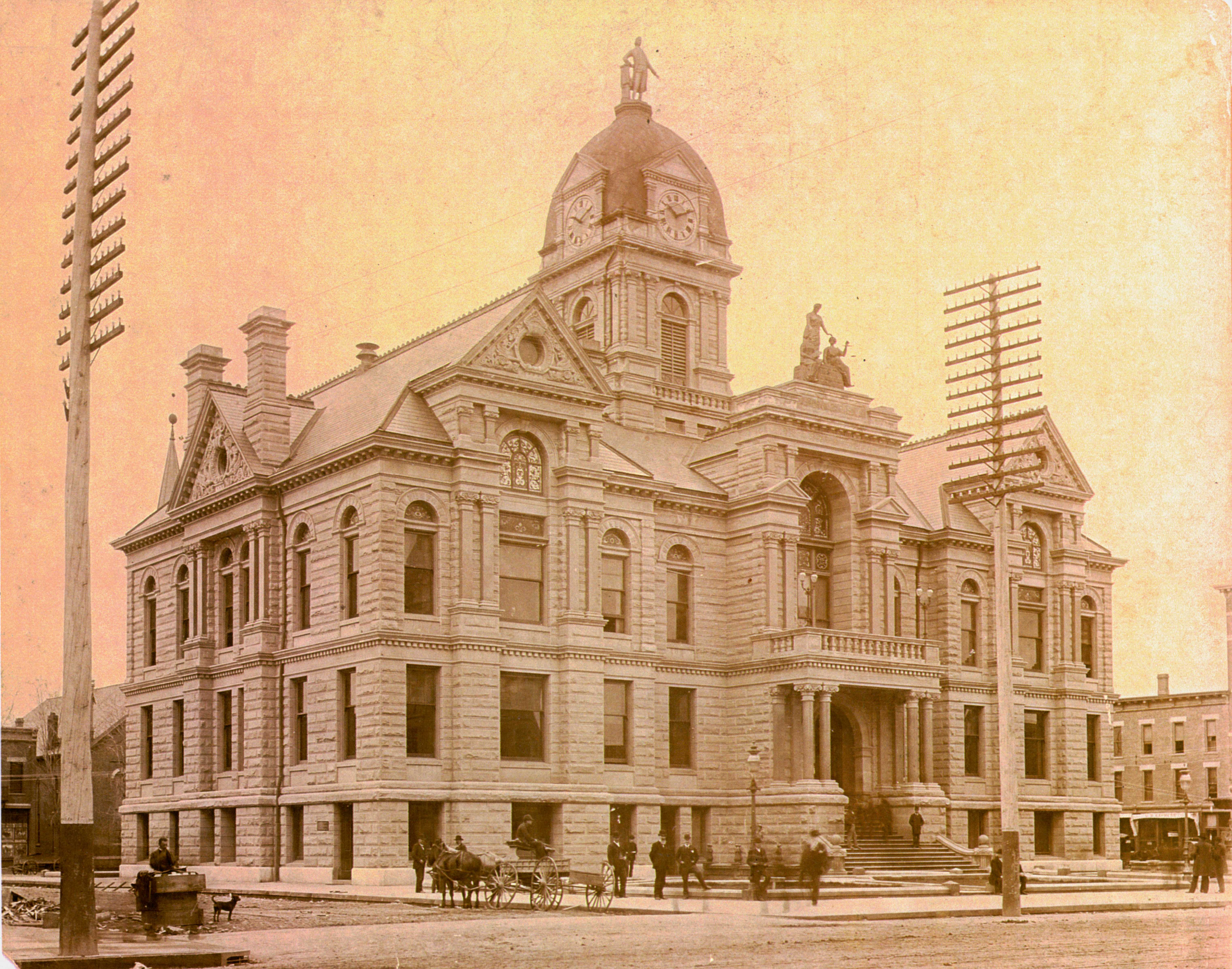 Courthouse in 1888