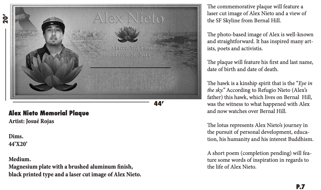 This photo shows the plaque and inscription that will go on top of the memorial.