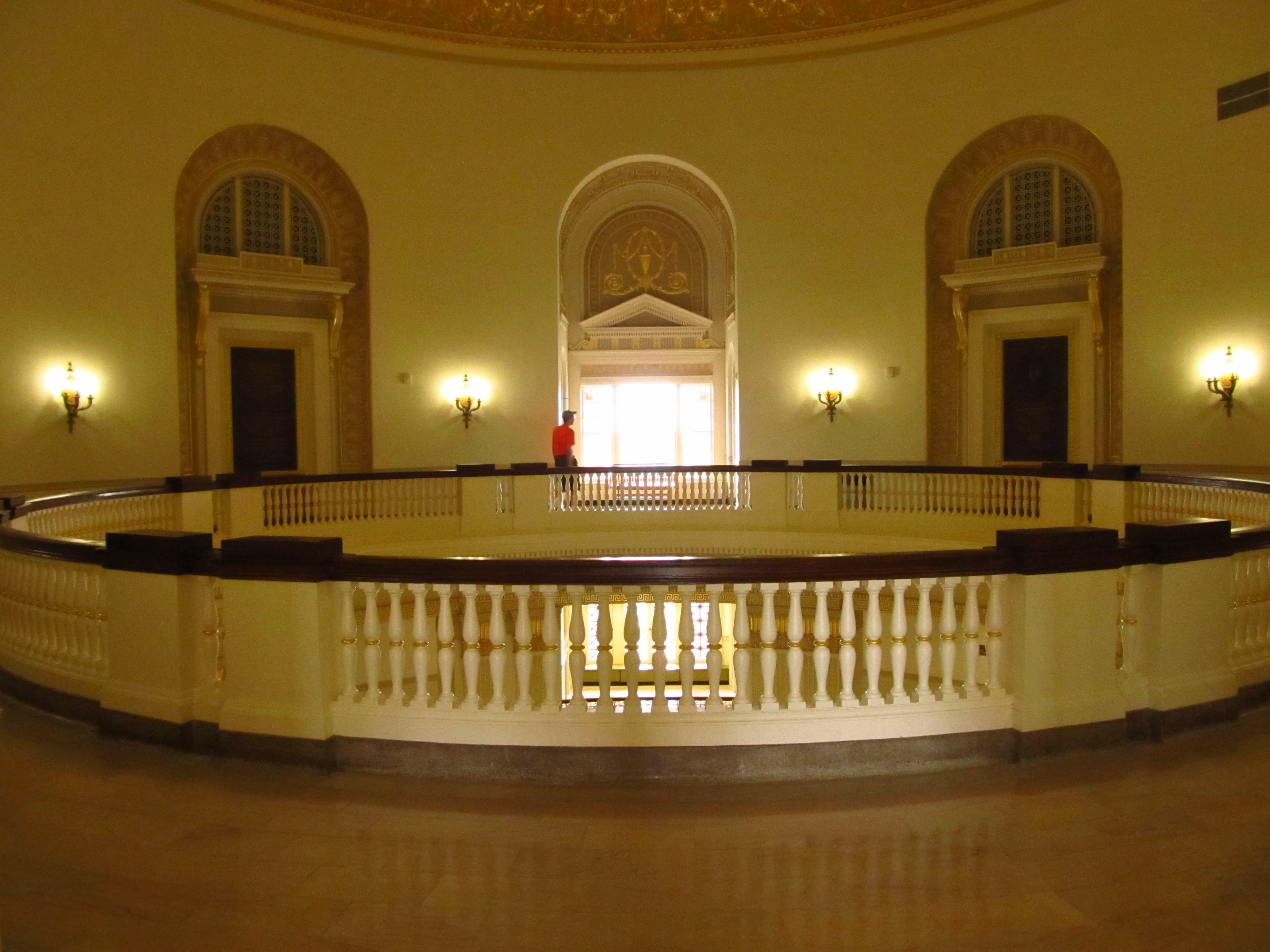 Dallas Hall's rotunda as seen from the third floor.