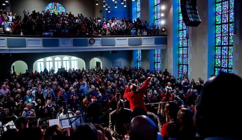 Sunday morning service at Glide Memorial Church