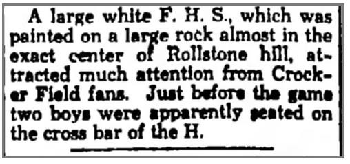 "1936 article in the Fitchburg Sentinel about ""The Rock"" painting, for 1st time"