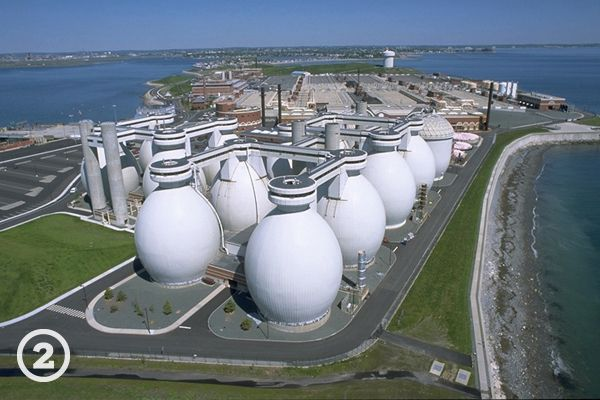 Deer Island's Wastewater Treatment Facility