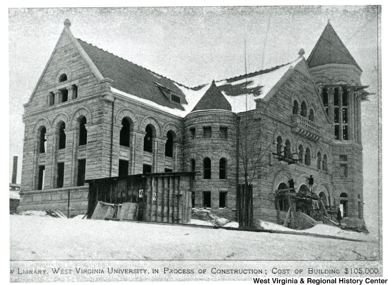 Stewart Hall under construction, 1902.