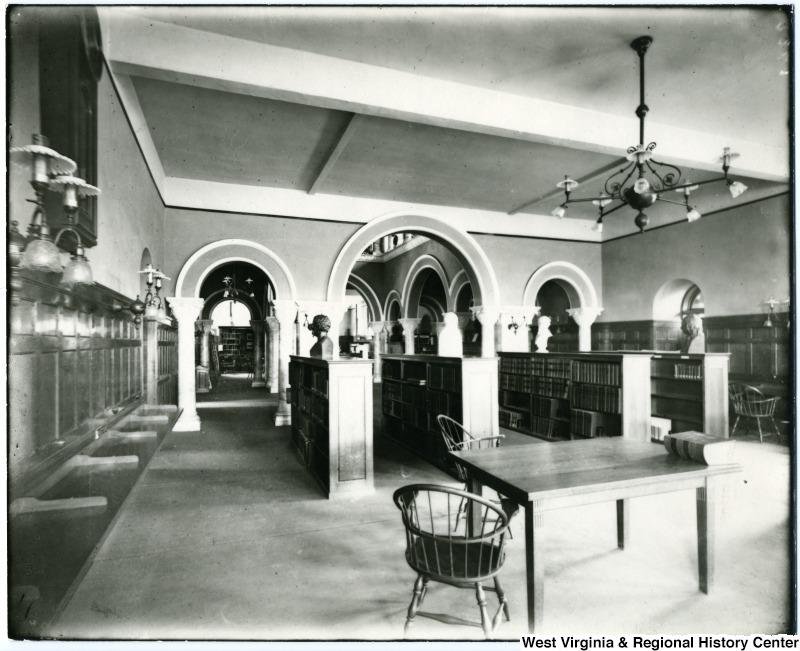 Inside Stewart Hall, 1905.