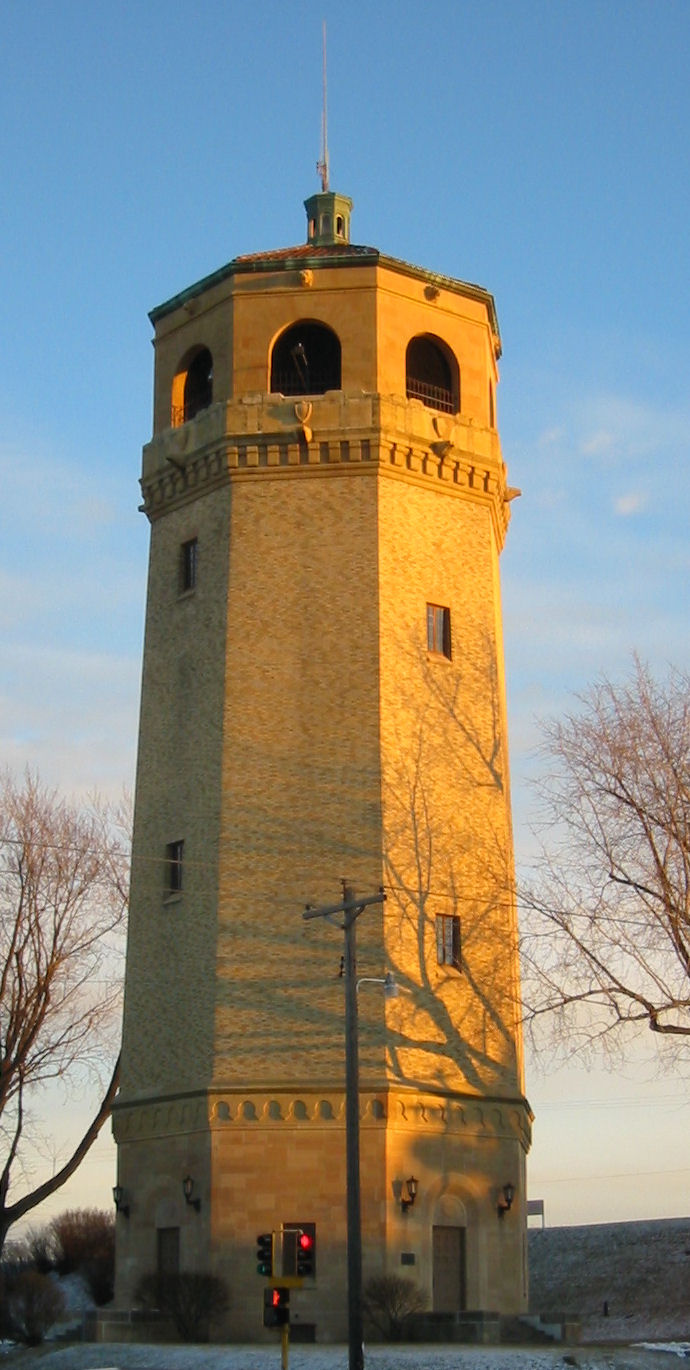 The Highland Park Tower was builtin 1928 and designed by African American, Clarence W. Wigington.
