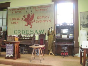 Inside the Welsh-American Heritage Museum.