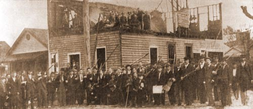 White supremacists rally in the streets of Wilmington to burn the Daily Record.