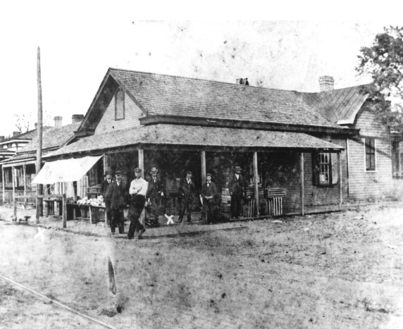 Intersection of Fourth and Harnett, November 1898  http://www.history.ncdcr.gov/1898-wrrc/report/Chapter5.pdf