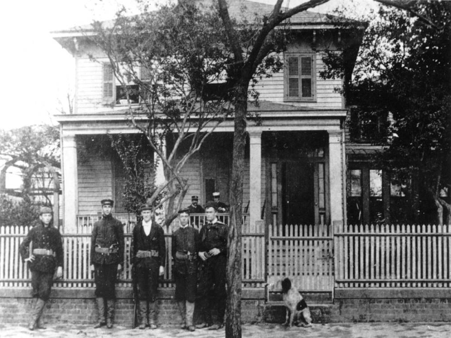 George Morton's home that became the headquarters for military presence in Brooklyn. 