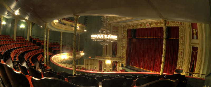 Photo of Thalain Hall stage taken from the first balcony. http://www.thalianhall.org/image-gallery