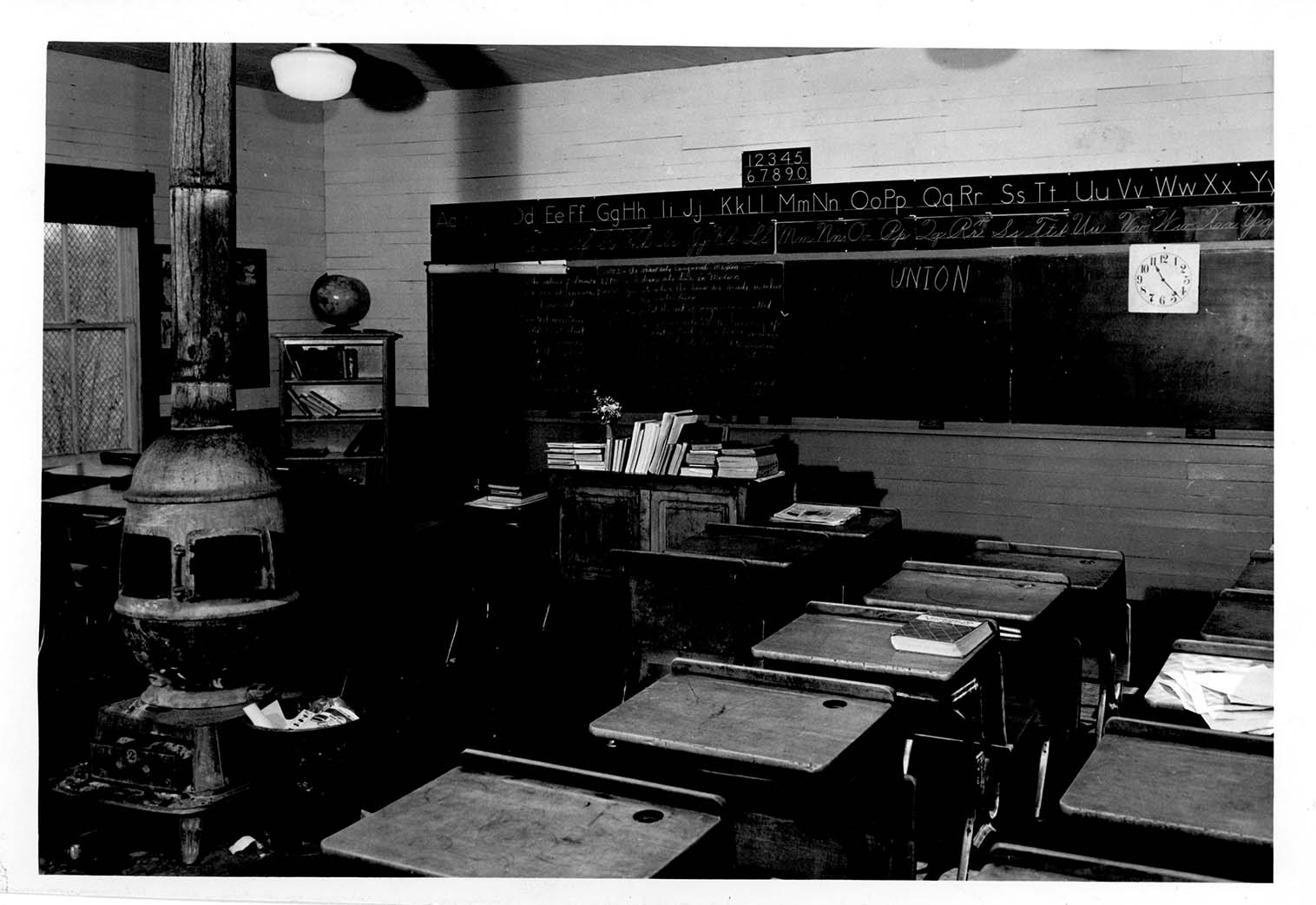 The Union School classroom, circa 1951.