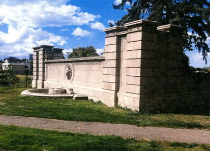 Wall with Lions Head Moldings
