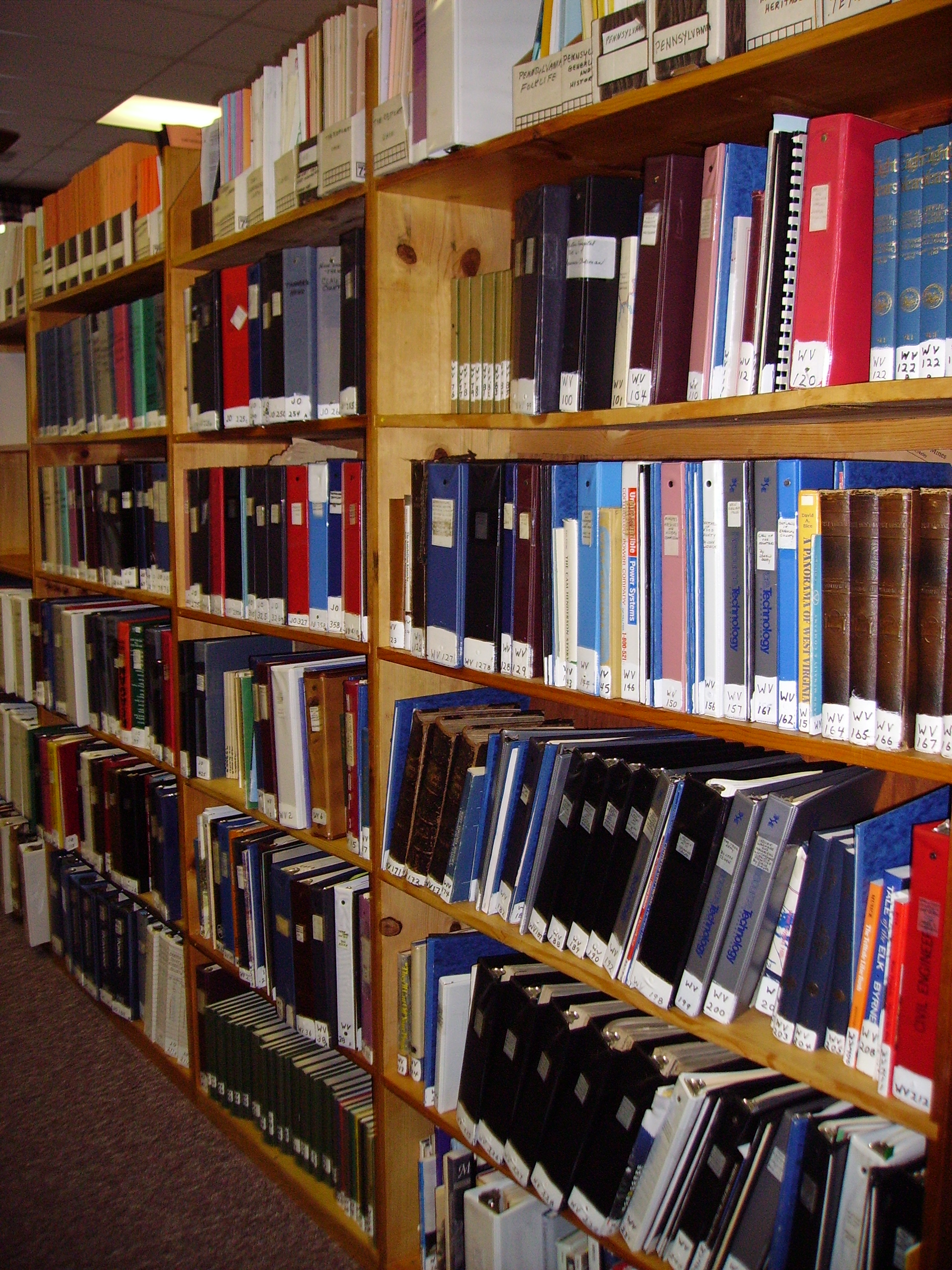 The library offers thousands of books and documents available for research. Photo courtesy of the HCPD.