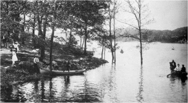 This is where people would launch their boat in the lake and taken in 1905.