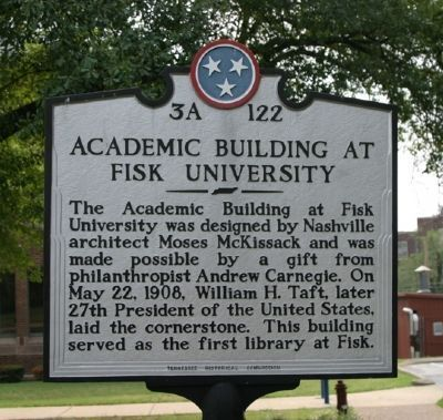 Marker for the Fisk University Academic Building