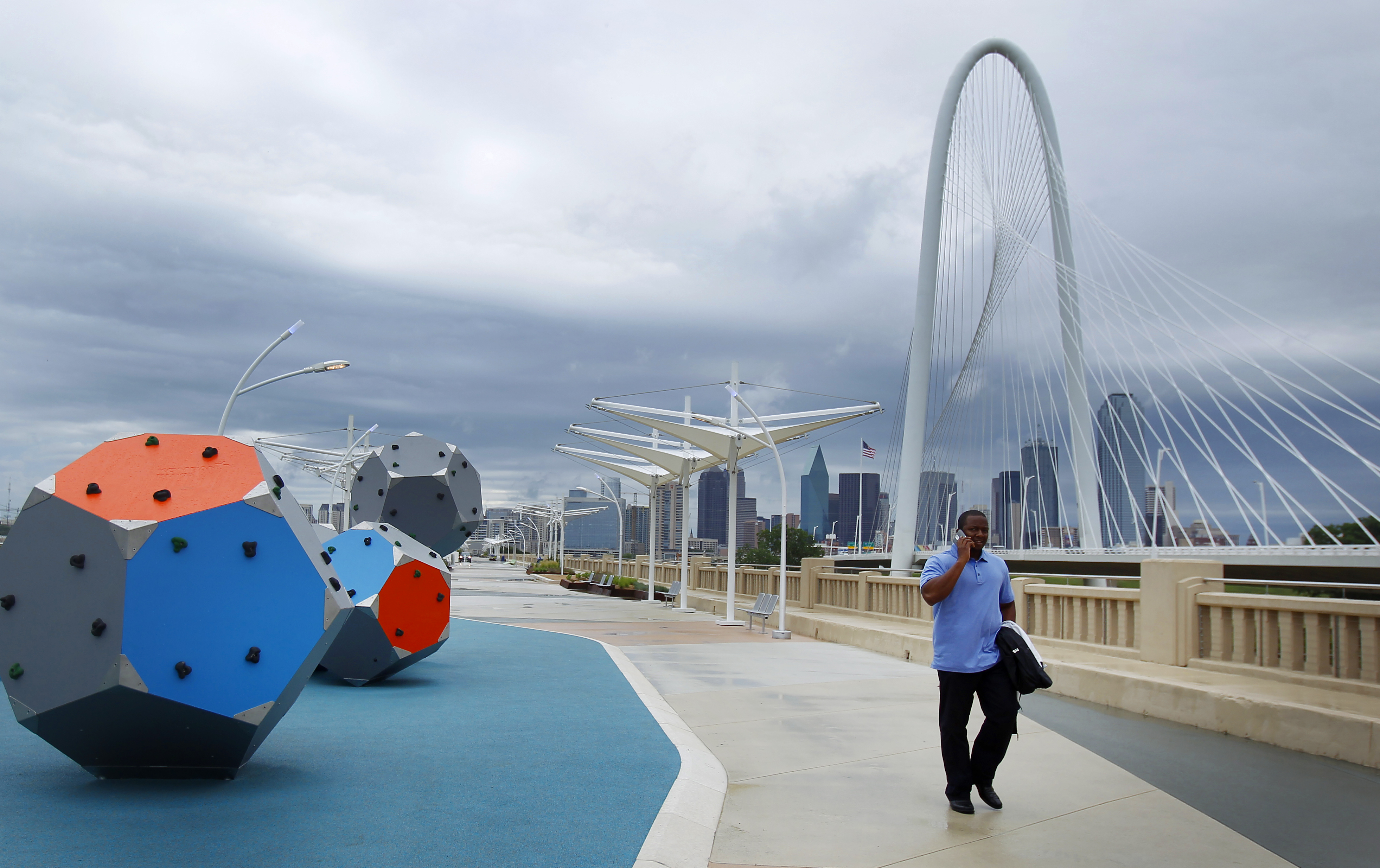 The Ronald Kirk Pedestrian Bridge is a wonderful example of a reimagined urban space.