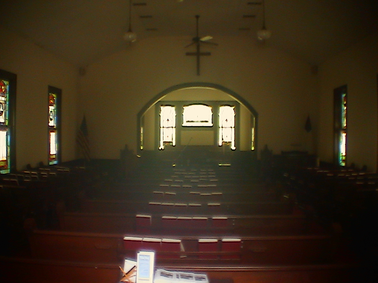 Interior of First Presbyterian Villa Rica Church.  Photo by Ernest E. Blevins, MFA, 14 July 2005.
