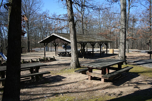 Picnic area with shelter
