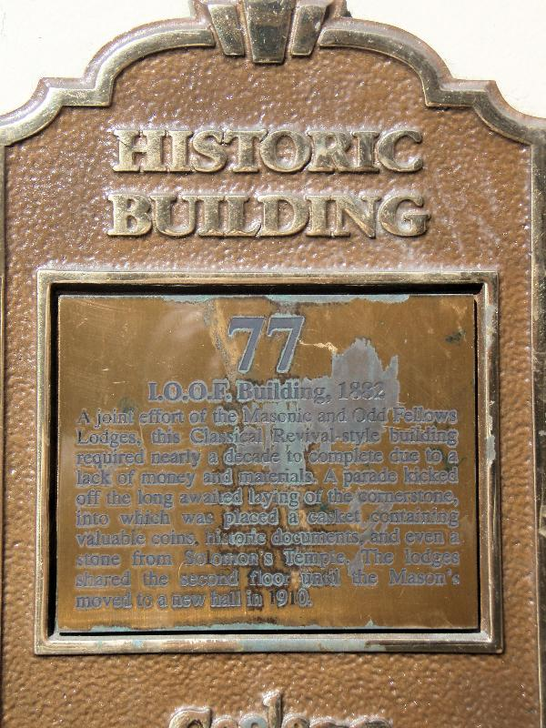 Historical marker found on the building