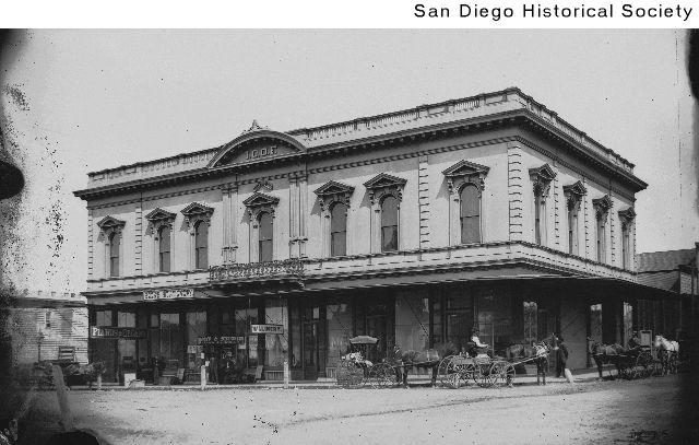 Circa 1880s-1890s photo of the building. Courtesy of the San Diego Historical Society