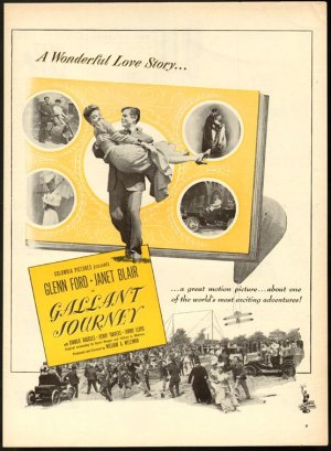 Columbia Pictures movie poster for Gallant Journey