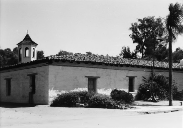 "In 1975 (same view as above), with the cupola restored and ""Ramona's Marriage Place"" signage removed"