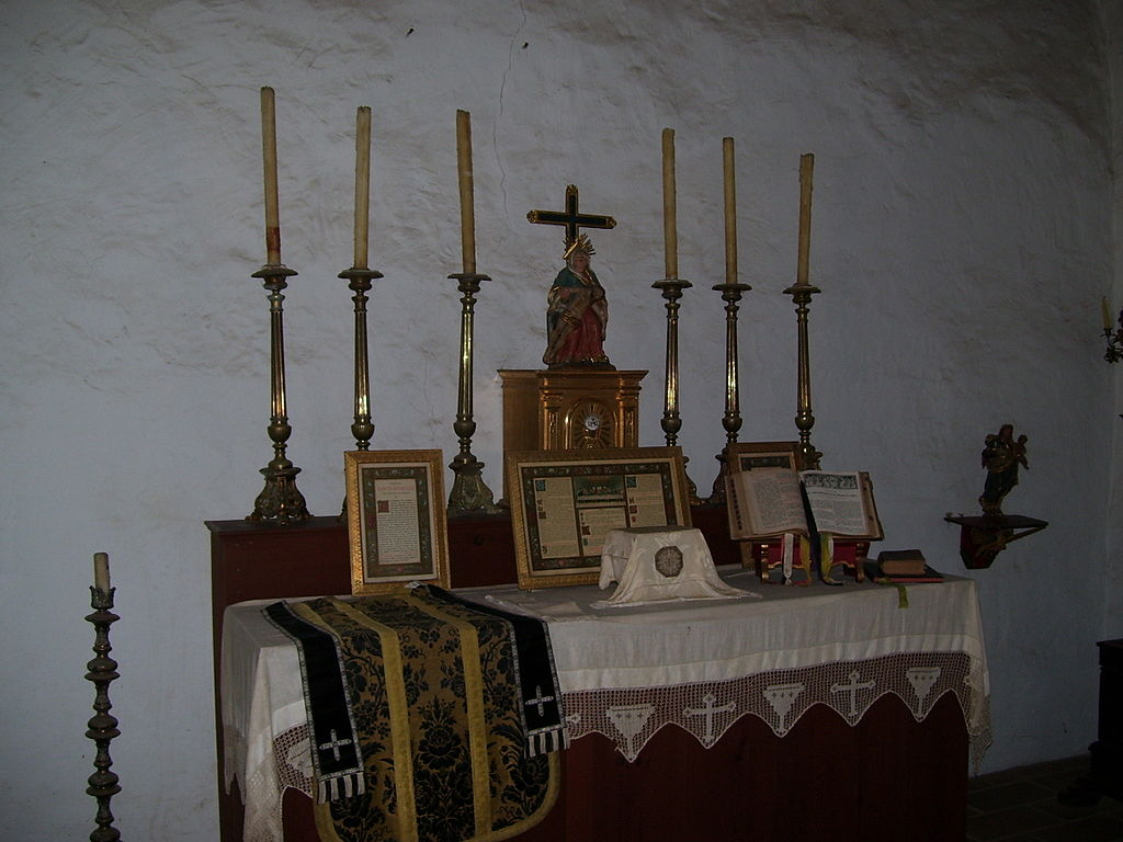 One of the rooms served as a temporary chapel