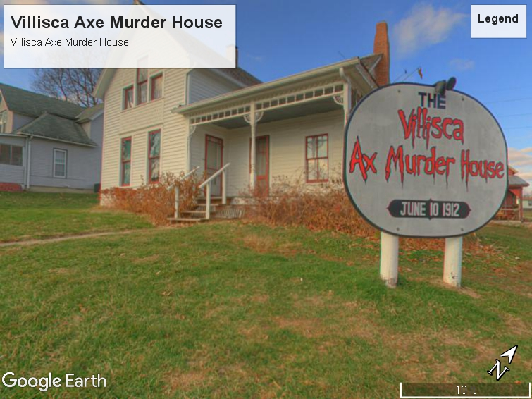 The front of the Villisca Ax Murder House
