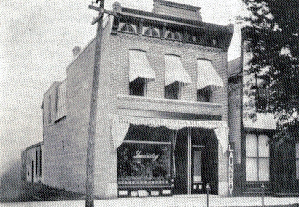Lyman Levi Ball Building, north and west elevations, 1907