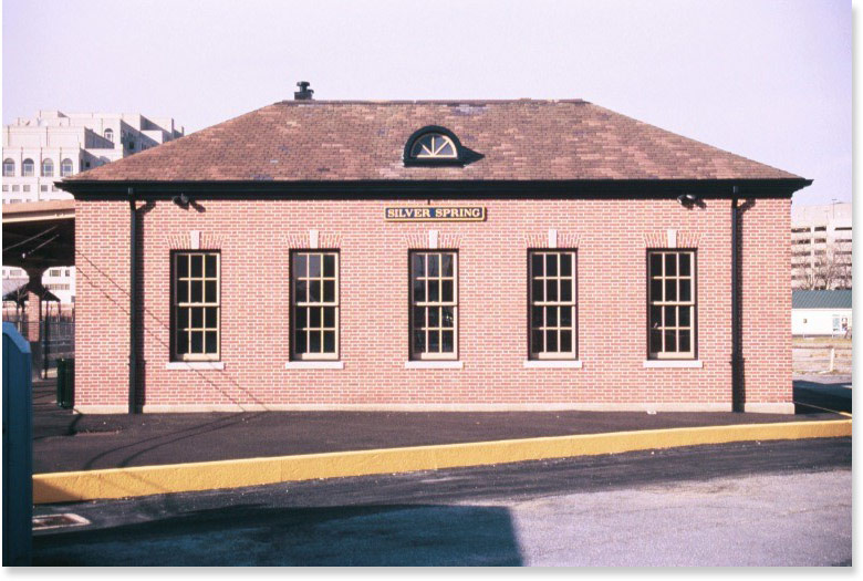 Silver Spring Railroad Station by Montgomery Preservation, Inc. (reproduced under Fair Use)