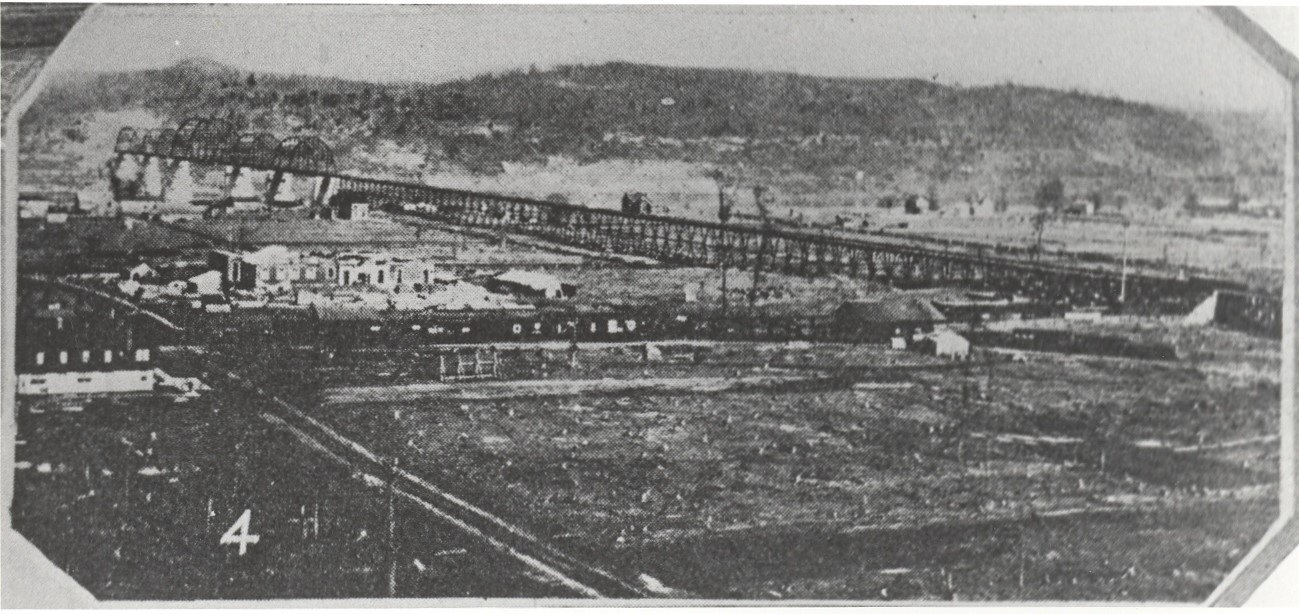 Kenova was established by the Norfolk & Western Railway at the site of a new bridge it built across the Ohio River in the 1890s. Image courtesy of the Kenova Historical Commission.