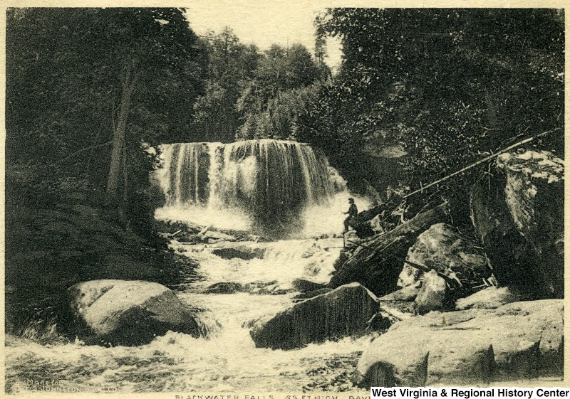 Nearby Blackwater Falls in Tucker County. ca. 1910.