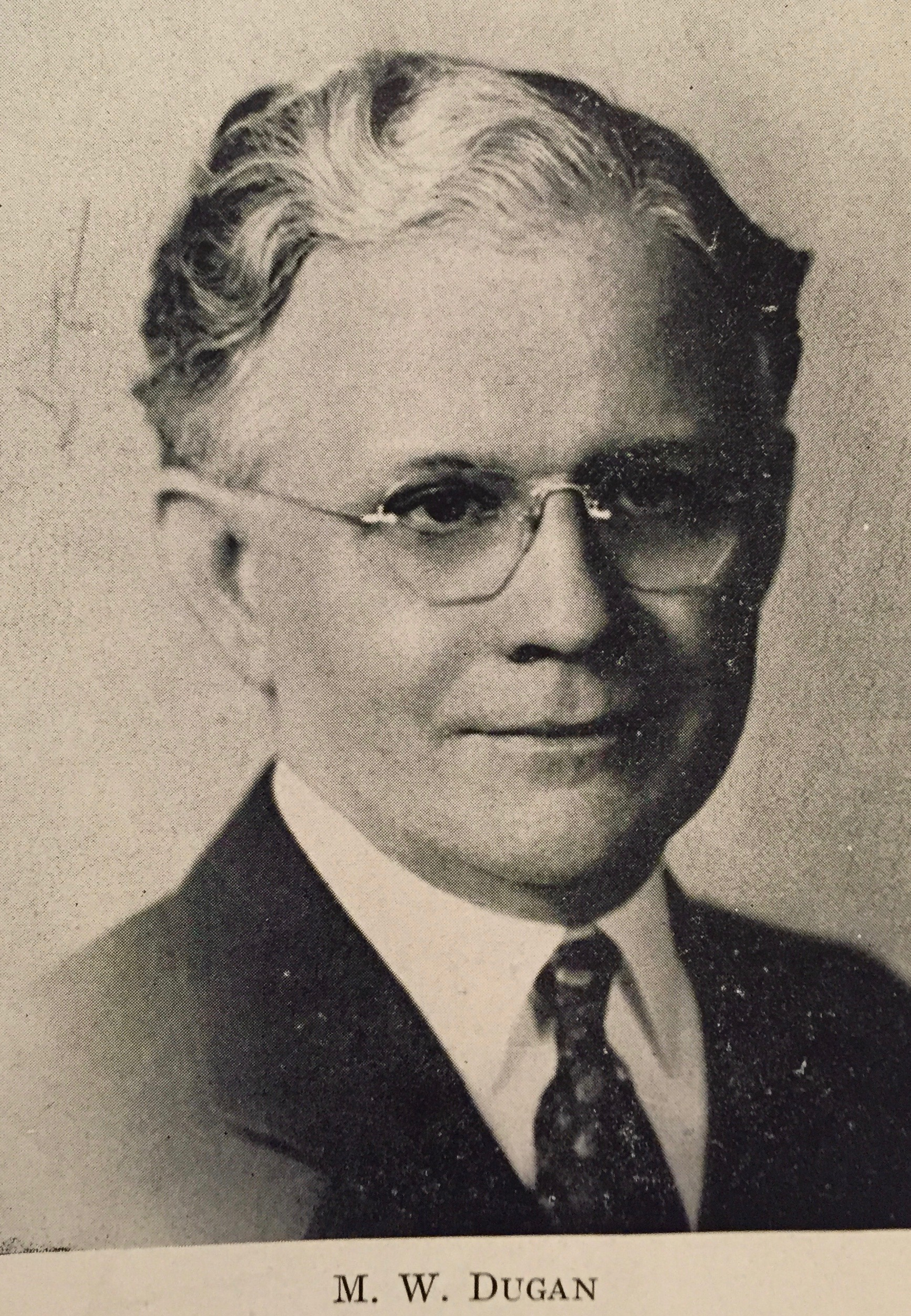 Mathias W. Dugan, second president of the Emmons-Hawkins Hardware Company