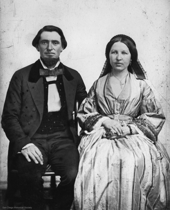 Albert Seeley, man who turned the home into a hotel, and his wife in 1868