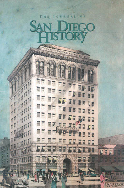 This cover of the Summer/Fall 2003 issue of the San Diego History Quarterly shows the Medico-Dental building as it appeared soon after it opened.