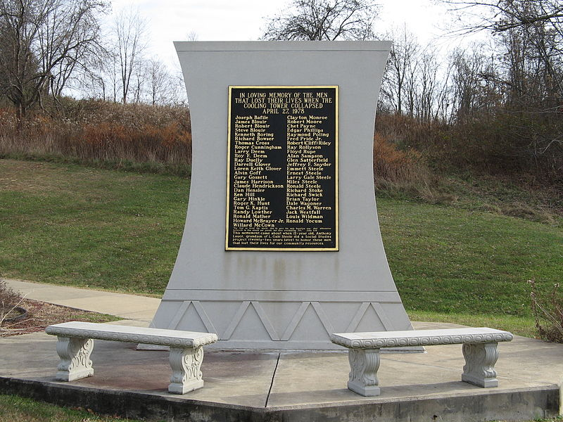 This memorial bears the names of each of the fifty-one victims of the accident.